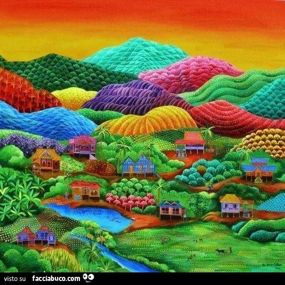 Paesaggio colorato for Disegni colorati paesaggi