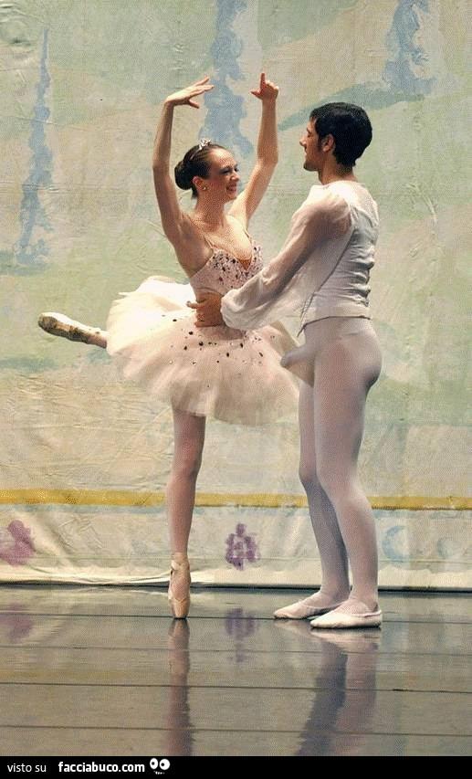 la ballerina ha unerezione