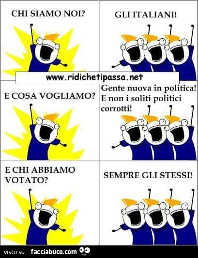Chi siamo noi gli italiani e cosa vogliamo gente nuova for Gruppi politici italiani
